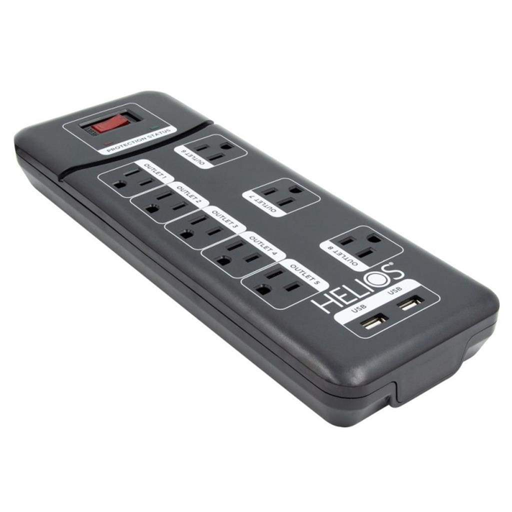 8 Outlet Surge Protected Power Strip with 2 USB Ports