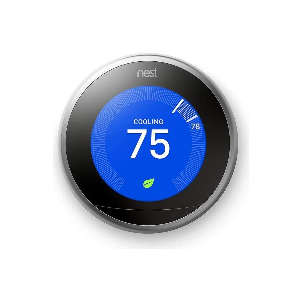 Nest Learning Thermostat, 3rd Generation (Stainless Steel) - Stereo Advantage