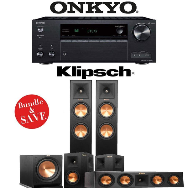 Klipsch RP-260F 3.1-Ch Reference Premiere Home Theater System with Onkyo TX-NR686 7.2-Channel 4K Network A/V Receiver
