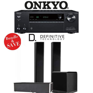 Definitive Technology BP9060 3.1-Ch Home Theater Speaker Package with Onkyo TX-NR787 9.2-Channel 4K Network A/V Receiver - Stereo Advantage
