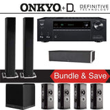 Definitive Technology BP9060 7.1-Ch Home Theater Speaker Package with Onkyo TX-NR787 9.2-Channel 4K Network A/V Receiver - Stereo Advantage