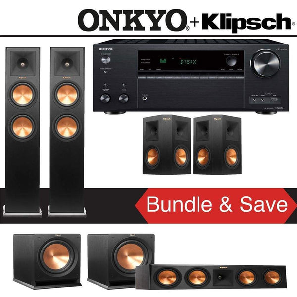 Klipsch RP-260F 5.2-Ch Reference Premiere Home Theater System with Onkyo TX-NR686 7.2-Channel 4K Network A/V Receiver