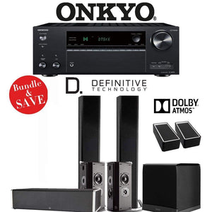 Definitive Technology BP9060 5.1.2-Ch Dolby Atmos Home Theater Speaker Package with Onkyo TX-NR787 9.2-Channel 4K Network A/V Receiver - Stereo Advantage