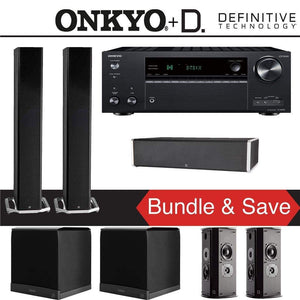 Definitive Technology BP9060 5.2-Ch Home Theater Speaker Package with Onkyo TX-NR787 9.2-Channel 4K Network A/V Receiver - Stereo Advantage