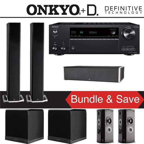 Definitive Technology BP9060 5.2-Ch Home Theater Speaker Package with Onkyo TX-NR787 9.2-Channel 4K Network A/V Receiver