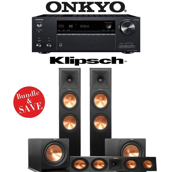 Klipsch RP-280F 3.2-Ch Reference Premiere Home Theater Speaker System with Onkyo TX-NR787 9.2-Channel 4K Network A/V Receiver