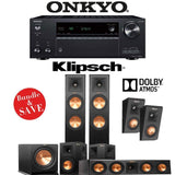 Klipsch RP-260F 5.1.2-Ch Reference Premiere Dolby Atmos Home Theater System with Onkyo TX-NR686 7.2-Channel 4K Network A/V Receiver - Stereo Advantage