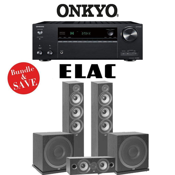 Elac F6.2 Debut 2.0 3.2-Ch Home Theater Speaker System with Onkyo TX-NR787 9.2-Channel 4K Network AV Receiver