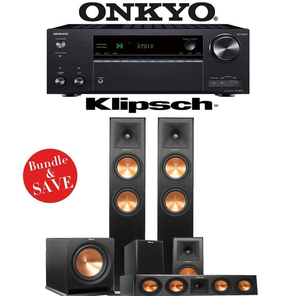 Klipsch RP-260F 5.1-Ch Reference Premiere Home Theater Speaker System with Onkyo TX-NR787 9.2-Channel 4K Network A/V Receiver