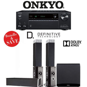 Definitive Technology BP9080 x 5.1.2-Ch Dolby Atmos Home Theater Speaker Package with Onkyo TX-NR787 9.2-Channel 4K Network A/V Receiver - Stereo Advantage
