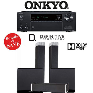 Definitive Technology BP9080 x 3.2.2-Ch Dolby Atmos Home Theater Speaker Package with Onkyo TX-NR787 9.2-Channel 4K Network A/V Receiver - Stereo Advantage
