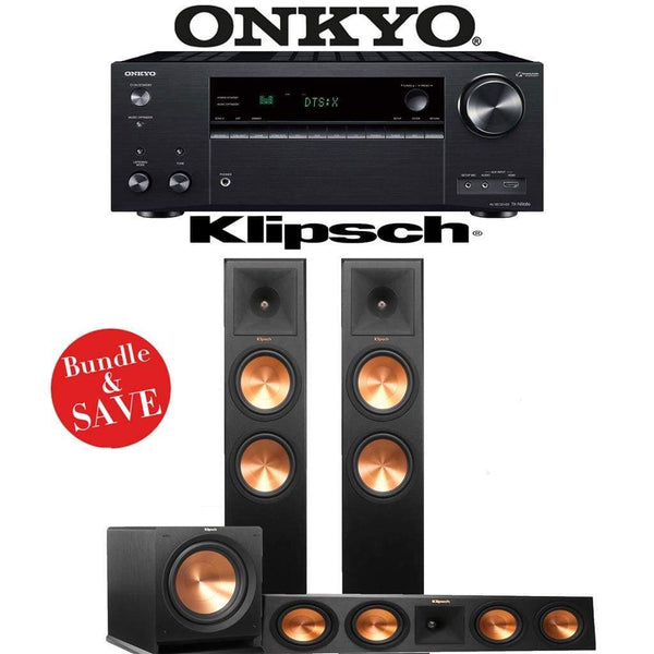 Klipsch RP-280F 3.1-Ch Reference Premiere Home Theater Speaker System with Onkyo TX-NR686 7.2-Channel 4K Network A/V Receiver