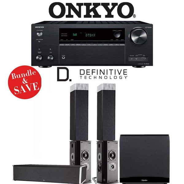 Definitive Technology BP9080 x 5.1-Ch High Performance Home Theater Speaker Package with Onkyo TX-NR686 7.2-Channel 4K Network A/V Receiver