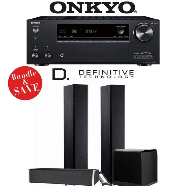 Definitive Technology BP9020 3.1-Ch Home Theater Speaker Package with Onkyo TX-NR787 9.2-Channel 4K Network A/V Receiver