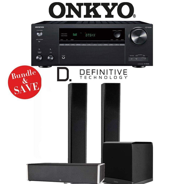 Definitive Technology BP9060 3.1-Ch High Performance Home Theater Speaker Package with Onkyo TX-NR686 7.2-Channel 4K Network A/V Receiver