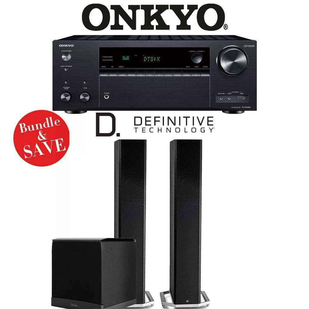 Onkyo TX-NR686 7.2-Channel THX Certified Network A/V Receiver + Definitive Technology BP9060 + Definitive Technology SuperCube6000-2.1-Ch... - Stereo Advantage