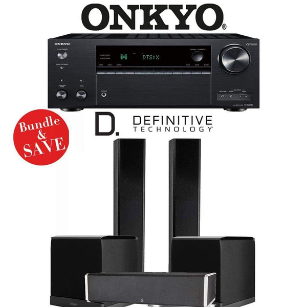 Definitive Technology BP9060 3.2-Ch Home Theater Speaker Package with Onkyo TX-NR787 9.2-Channel 4K Network A/V Receiver