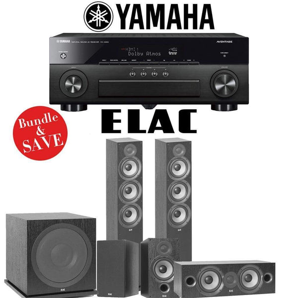 Elac F6.2 Debut 2.0 5.1-Ch Home Theater System with Yamaha AVENTAGE RX-A880 7.2-Channel 4K Networking AV Receiver