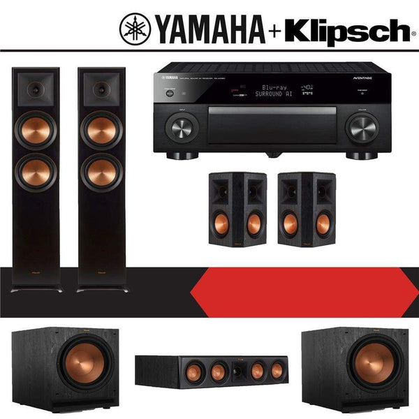 Klipsch RP-6000F 5.2-Ch Reference Premiere Home Theater Speaker System with Yamaha AVENTAGE RX-A1080 7.2-Channel 4K Network AV Receiver