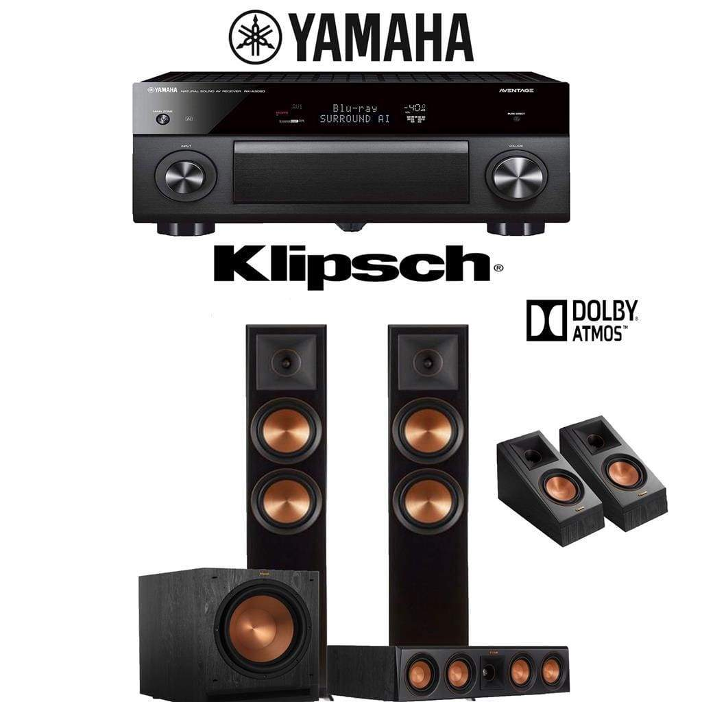 Klipsch RP-6000F 3.1.2-Ch Reference Premiere Dolby Atmos Home Theater Speaker System with Yamaha AVENTAGE RX-A3080 9.2-Channel 4K Network... - Stereo Advantage