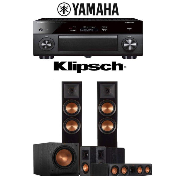 Klipsch RP-6000F 5.1-Ch Reference Premiere Home Theater Speaker System with Yamaha AVENTAGE RX-A3080 9.2-Channel 4K Network AV Receiver