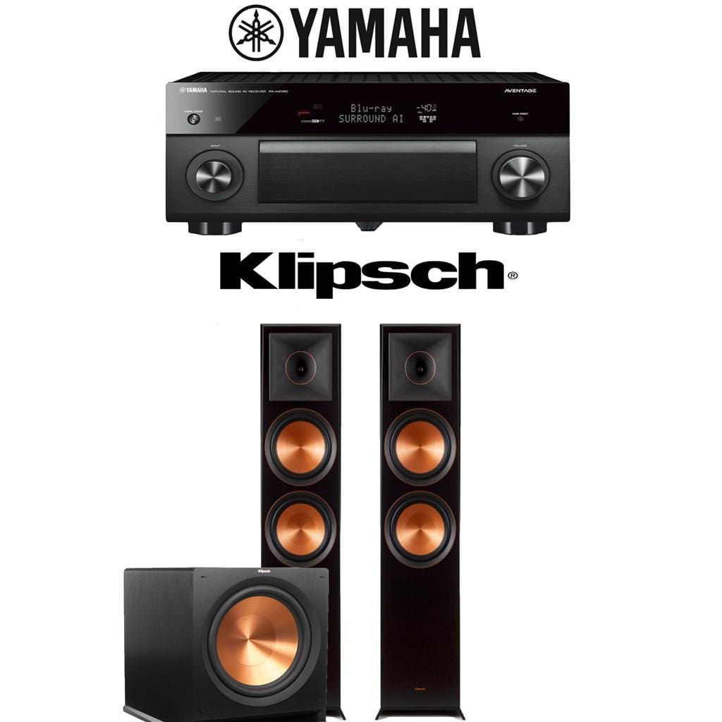Yamaha AVENTAGE RX-A2080 9.2-Channel 4K Ultra HD AV Receiver + Klipsch RP-8000F + Klipsch R-115SW-2.1-Ch Home Theater Package - Stereo Advantage
