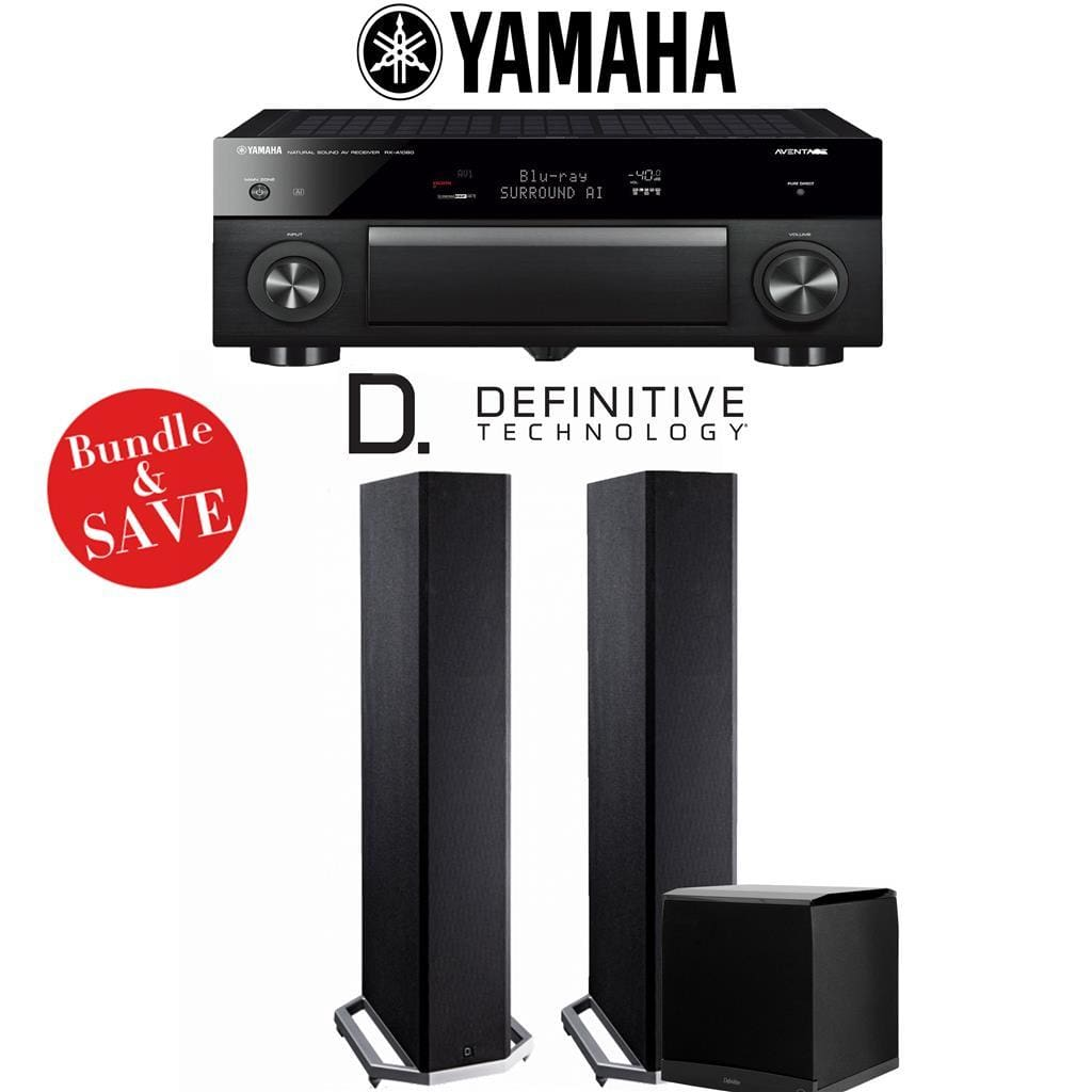 Yamaha AVENTAGE RX-A1080 7.2-Channel 4K Network AV Receiver + Definitive Tech BP9020 + Definitive Tech SuperCube6000-2.1-Ch Home Theater ... - Stereo Advantage