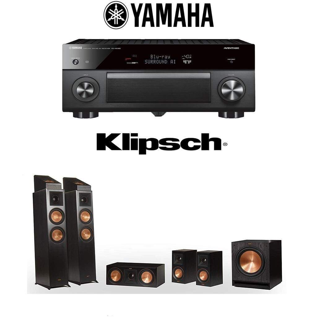 Klipsch RP-6000F 5.1.2-Ch Dolby Atmos Home Theater System with Yamaha AVENTAGE RX-A2080 9.2-Channel 4K Home Theater AV Receiver - Stereo Advantage