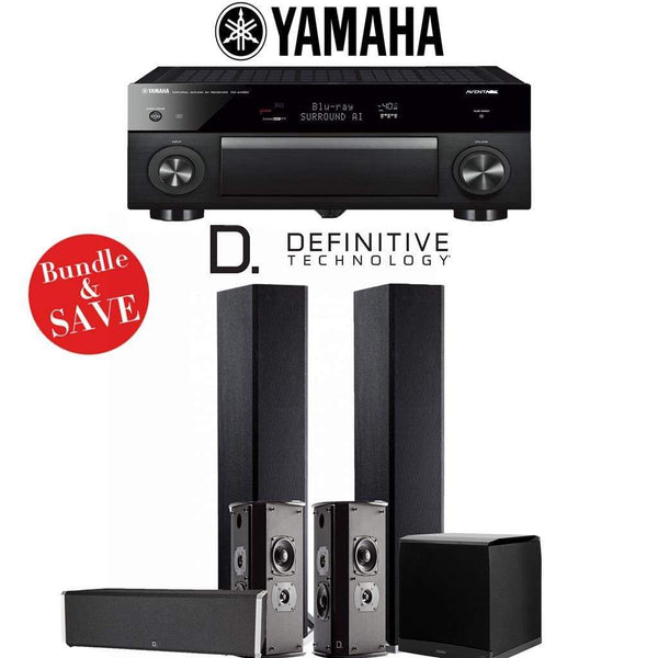 Definitive Technology BP9020 5.1-Ch High Performance Home Theater System with Yamaha AVENTAGE RX-A1080 7.2-Channel 4K Network A/V Receiver