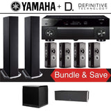 Definitive Technology BP9020 7.1-Ch High Performance Home Theater System with Yamaha AVENTAGE RX-A1080 7.2-Channel 4K Network A/V Receiver - Stereo Advantage