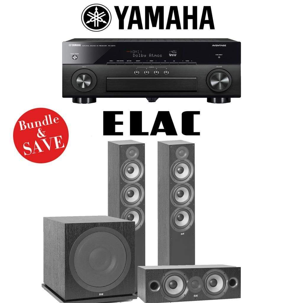 Elac F6.2 Debut 2.0 3.1-Ch Home Theater Speaker System with Yamah RX-A780 7.2-Channel 4K Network A/V Receiver - Stereo Advantage