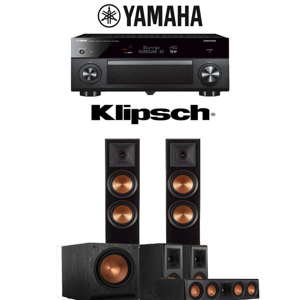 Klipsch RP-5000F 5.1-Ch Reference Premiere Home Theater System with Yamaha AVENTAGE RX-A1080 7.2-Channel 4K Ultra HD Networking AV Receiver