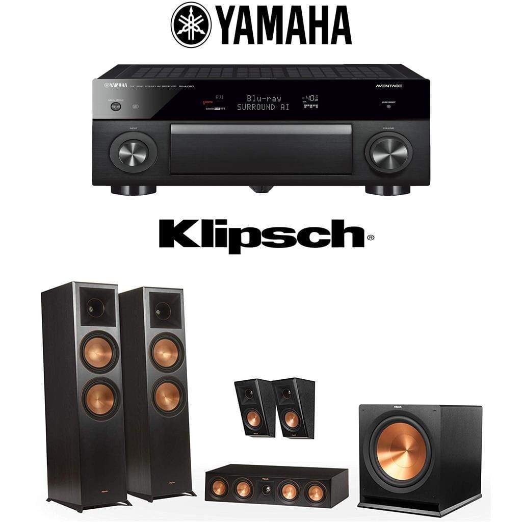 Klipsch RP-8000F 5.1 Home Theater System with Yamaha AVENTAGE RX-A1080 7.2-Channel 4K Home Theater AV Receiver - Stereo Advantage