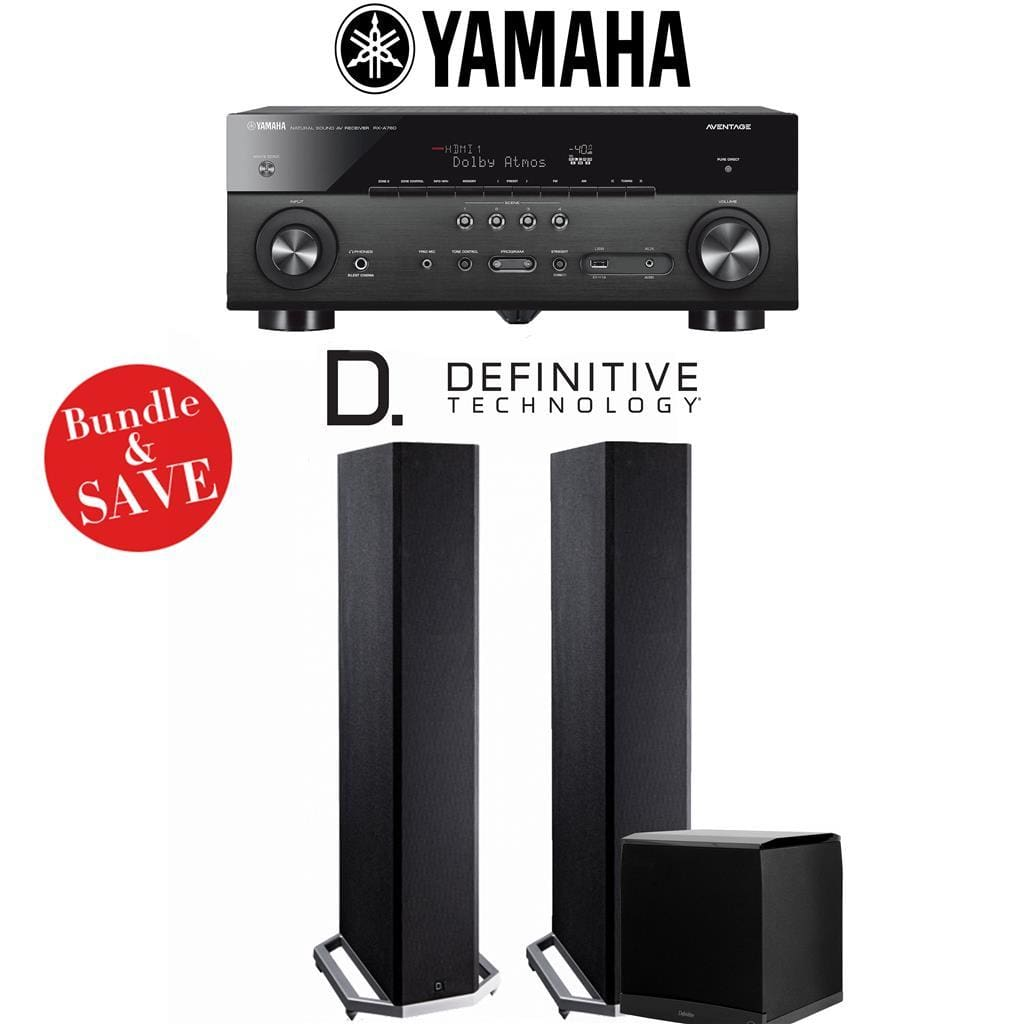 Yamaha RX-A780 AVENTAGE 7.2-Channel AV Receiver + Definitive Technology BP9020 + Definitive Technology SuperCube4000-2.1-Ch Home Theater ... - Stereo Advantage