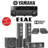Elac F5.2 Debut 2.0 5.1.2-Ch Dolby Atmos Home Theater Speaker System with Yamaha RX-A780 7.2-Channel 4K Network A/V Receiver - Stereo Advantage