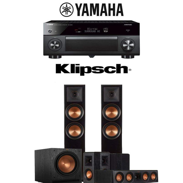 Klipsch RP-6000F 5.1-Ch Reference Premiere Home Theater Speaker System with Yamaha AVENTAGE RX-A2080 9.2-Channel 4K Network AV Receiver