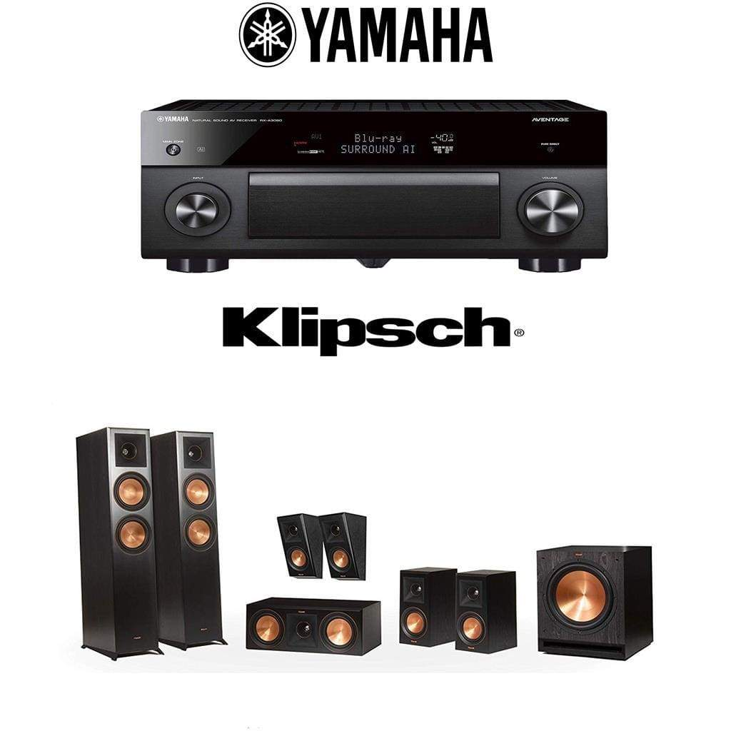 Klipsch Reference Premiere RP-6000F 7.1 Home Theater System with Yamaha AVENTAGE RX-A3080 9.2-Channel 4K Home Theater AV Receiver - Stereo Advantage
