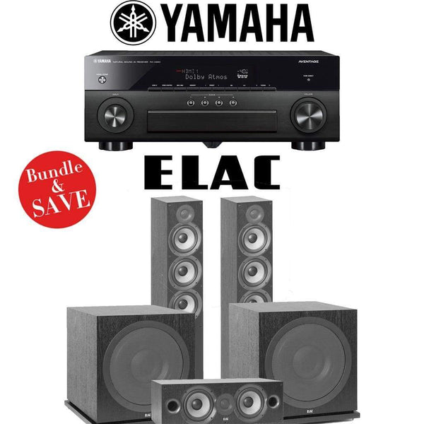 Elac F6.2 Debut 2.0 3.2-Ch Home Theater System with Yamaha AVENTAGE RX-A880 7.2-Channel 4K Networking AV Receiver