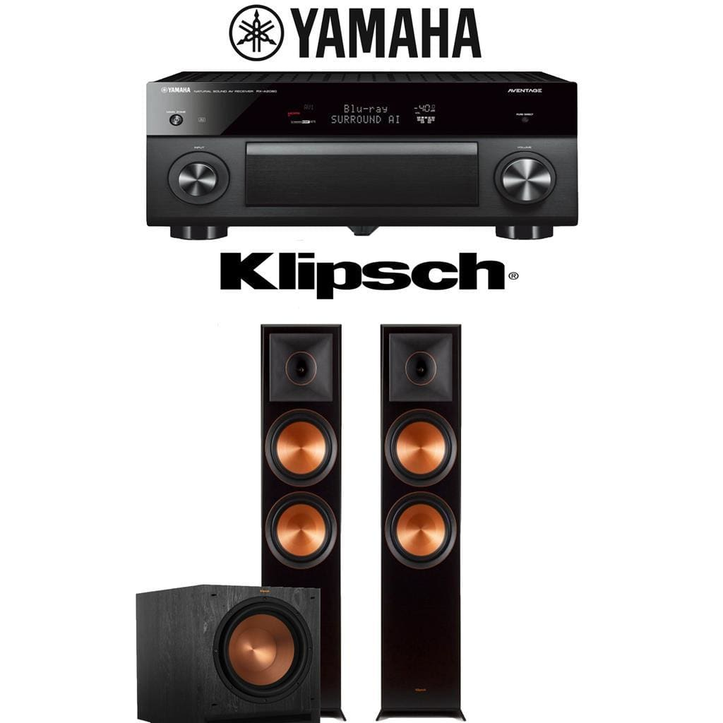 Yamaha AVENTAGE RX-A2080 9.2-Channel 4K Ultra HD AV Receiver + Klipsch RP-8000F + Klipsch SPL-120-2.1-Ch Home Theater Package - Stereo Advantage