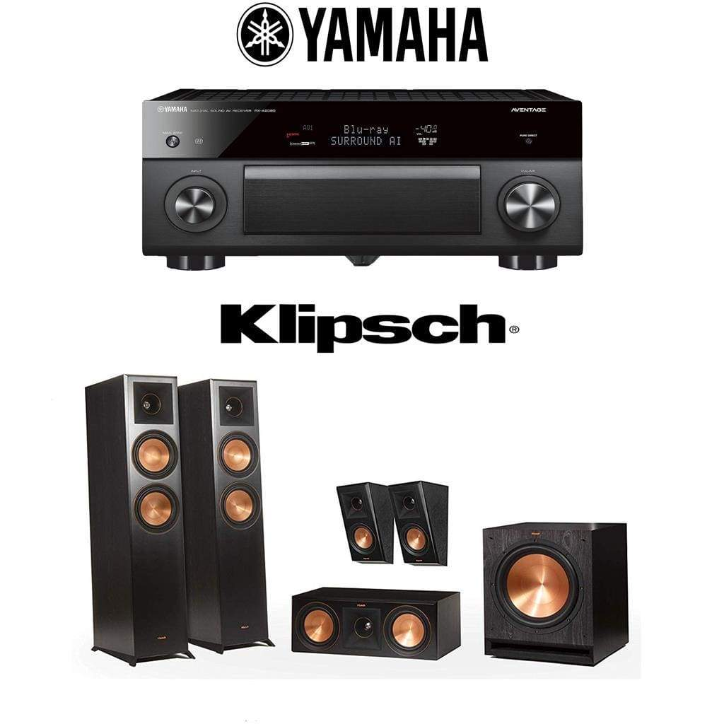 Klipsch RP-6000F 5.1 Home Theater System with Yamaha AVENTAGE RX-A2080 9.2-Channel 4K Home Theater AV Receiver - Stereo Advantage