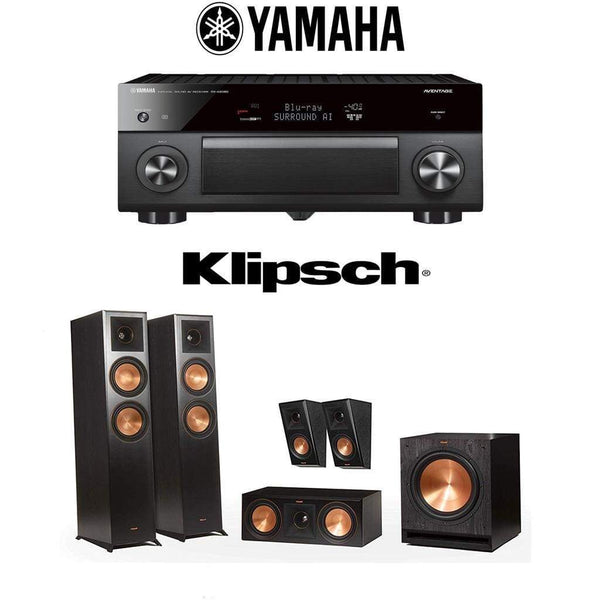 Klipsch RP-6000F 5.1 Home Theater System with Yamaha AVENTAGE RX-A2080 9.2-Channel 4K Home Theater AV Receiver
