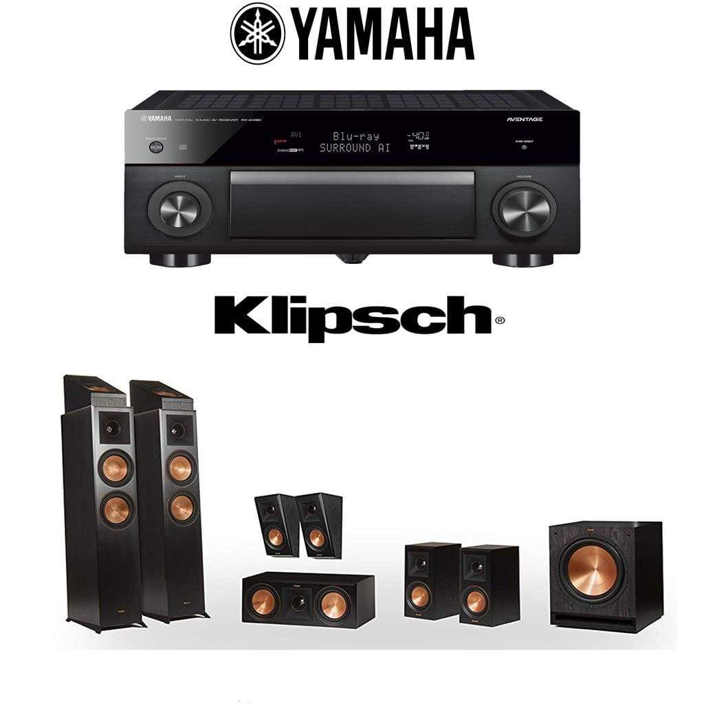 Klipsch RP-6000F 7.1.2 Dolby Atmos Home Theater System with Yamaha AVENTAGE RX-A1080 7.2-Channel 4K Home Theater AV Receiver - Stereo Advantage