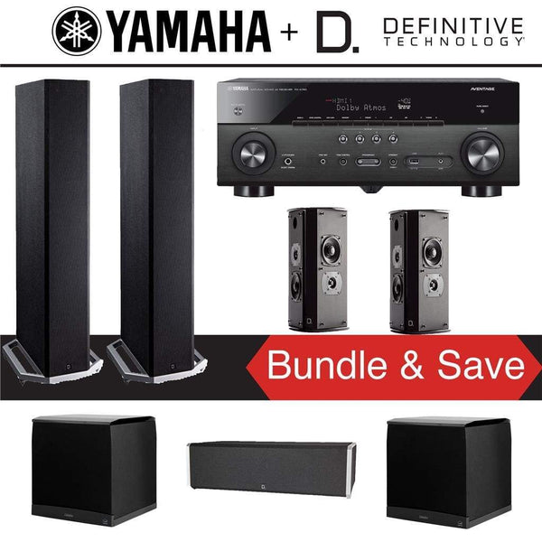 Definitive Technology BP9020 5.2Ch High Performance Home Theater Speaker System w/ Yamaha RX-A780 7.2Ch 4K A/V Receiver