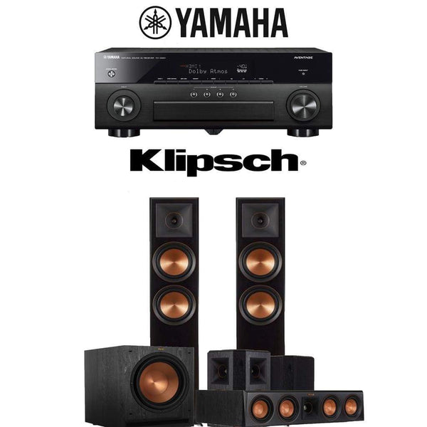 Klipsch RP-6000F 5.1-Ch Reference Premiere Home Theater Speaker System with Yamaha AVENTAGE RX-A880 7.2-Channel 4K Network AV Receiver