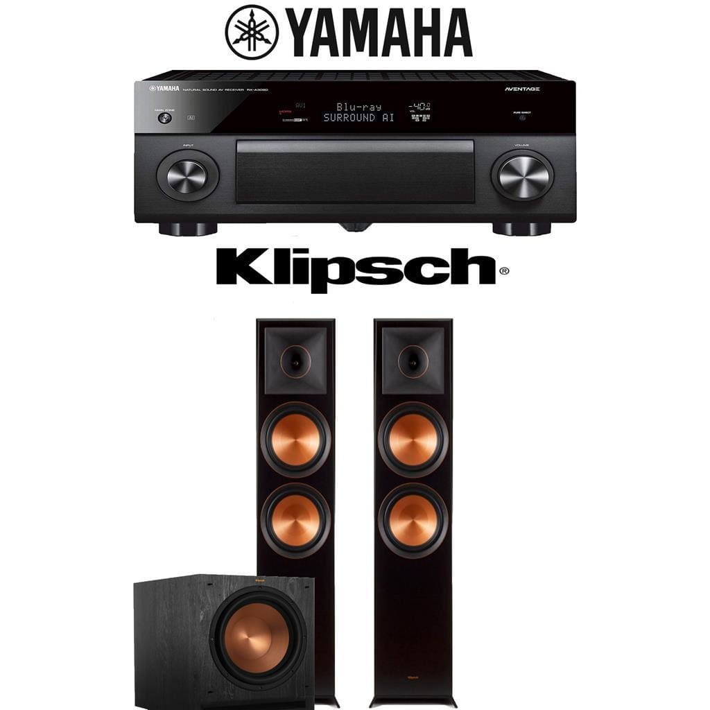 Yamaha AVENTAGE RX-A3080 9.2-Channel 4K Ultra HD Network AV Receiver + Klipsch RP-8000F + Klipsch SPL-120-2.1-Ch Home Theater Package - Stereo Advantage
