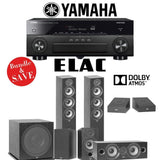 Elac F5.2 Debut 2.0 5.1.2-Ch Dolby Atmos Home Theater Speaker System with Yamaha AVENTAGE RX-A880 7.2-Channel 4K Network AV Receiver - Stereo Advantage
