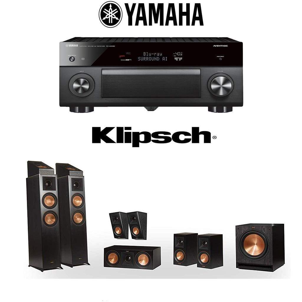 Klipsch RP-6000F 7.1.2 Dolby Atmos Home Theater System with Yamaha AVENTAGE RX-A2080 9.2-Channel 4K Home Theater AV Receiver - Stereo Advantage