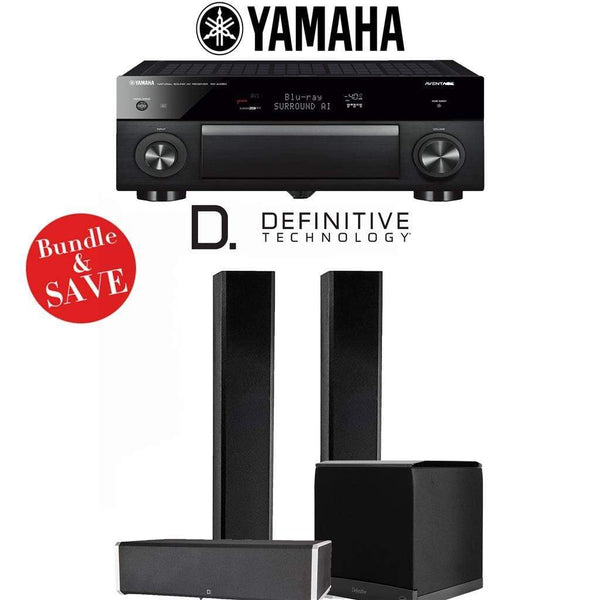 Definitive Technology BP9060 3.1-Ch High Performance Home Theater Speaker System with Yamaha AVENTAGE RX-A1080 7.2-Ch 4K Network A/V Rece...