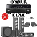 Elac F6.2 Debut 2.0 5.1.2-Ch Dolby Atmos Home Theater System with Yamaha AVENTAGE RX-A880 7.2-Channel 4K Networking AV Receiver - Stereo Advantage