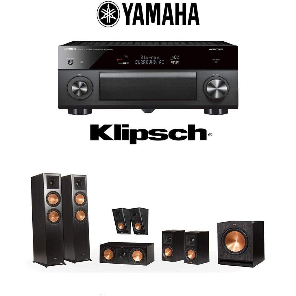 Klipsch RP-6000F 7.1 Home Theater System with Yamaha AVENTAGE RX-A2080 9.2-Channel 4K Home Theater AV Receiver - Stereo Advantage